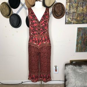 Free People Floral jumpsuit size extra small